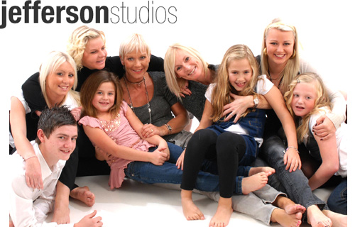 Capture your best side with a group studio photo-shoot and nine images for �10