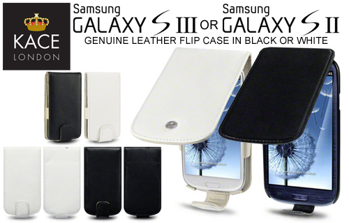 Leather flip case for the Samsung Galaxy S2 or S3 just �9.99