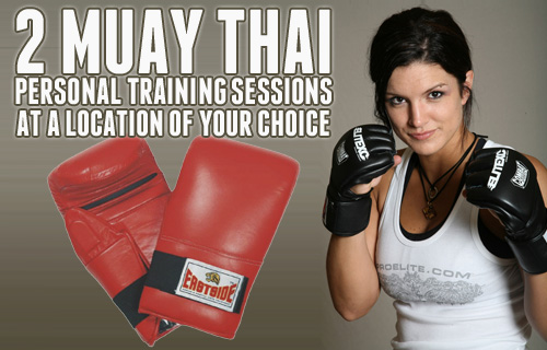 50% off two one-to-one Muay Thai kick-boxing fitness sessions with Lel Howard
