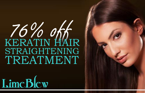 Calm your crowning glory with a 76% saving on a Keratin hair straightening treatment at Lime Blew