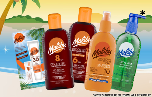 Stay safe this summer with a summer scorcher bag of Malibu sunscreens for just £15
