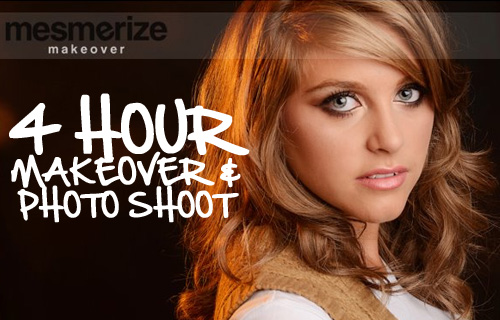 Dream of being a supermodel? 90% off a makeover and photo session at Mesmerize Makeover for just �10