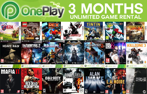 3 months console game subscription with OnePlay.com for only �7