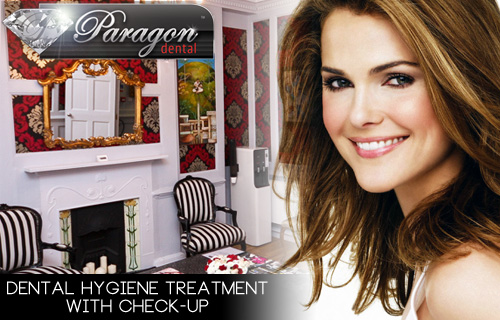 Dental hygiene treatment and check-up at Paragon Dental for £35