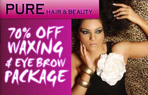 Prepare to bare this summer with a 70% saving on a pre-holiday grooming package at Pure Hair and Beauty