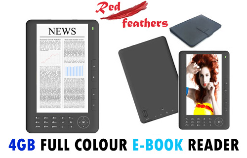 Read all about it! Get 54% off an e-reader and PU case from Red Feathers