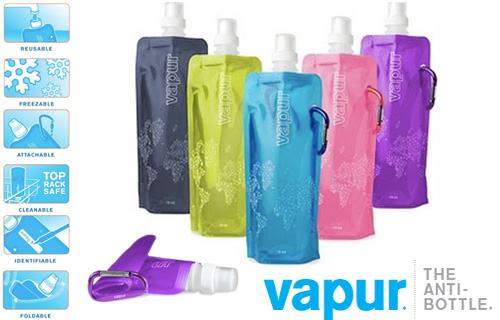 Two reusable Vapur water bottles from Silicone 17 for just �8 � 64% saving