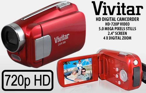 Make the summer one to remember with a Vivitar HD digital video camera for �39.99