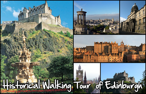 Explore Edinburgh with a walking tour for two for just �5