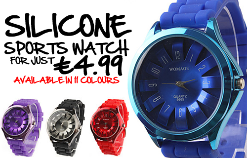 Time for a stylish new deal � 80% off a Chrysanthemum silicone watch