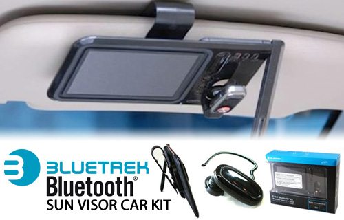 Stay safe and in contact with 60% off a brilliant Bluetrek Sun Visor Portable Bluetooth Car Kit from UK Surplus