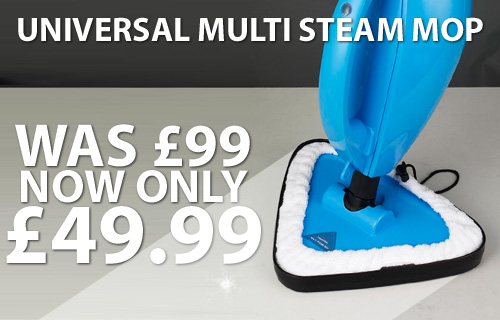 Kitchen floor in need of a good scrub? Universal Multi Steam Mop with Portable Steamer, Now �49.99