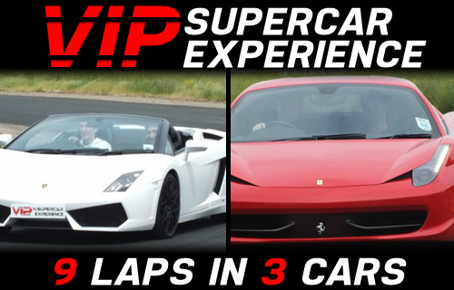 Get the adrenalin pumping! 9 lap Supercar and touring car experience for �99 from VIP UK Experience Days