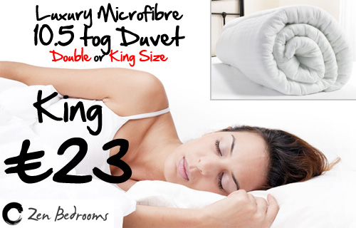 Enjoy snuggling under the covers? 86% off a microfibre King size duvet from Zen Bedrooms