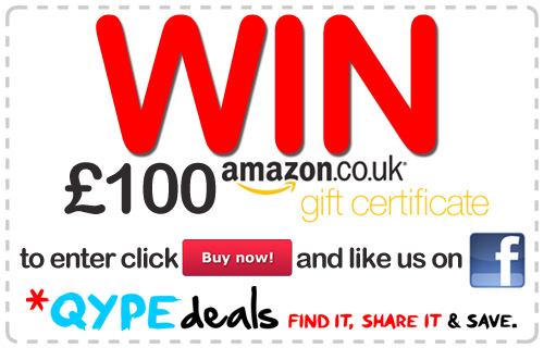 Win a �100 Amazon voucher with QypeDeals