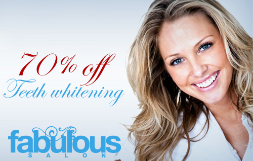 Brighten up for �59 with 70% off a teeth whitening treatment at Fabulous Salon