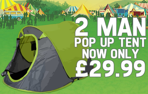 Keep calm and carry on camping with 58% off a two-man pop up tent