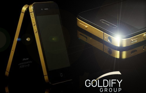 Bling, bling! Phone calls will never been the same again with 50% off an iPhone gold-plating service from Goldify