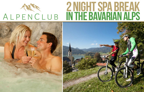 A two-night spa break for two in the Bavarian Alps for £299