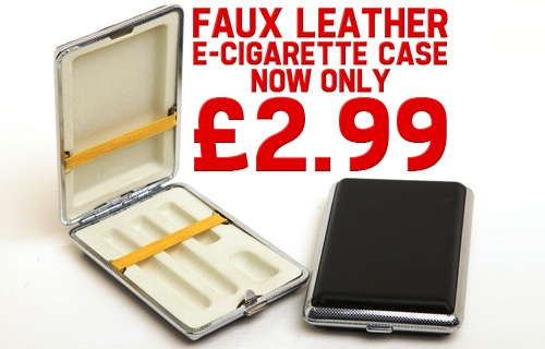 Carry with care � a faux leather e-cigarette case for just �2.99