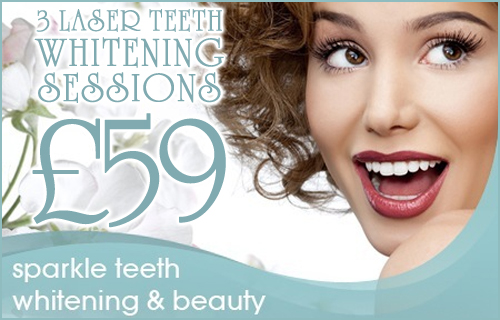 Say cheese! 80% off three 15-minute laser teeth whitening sessions