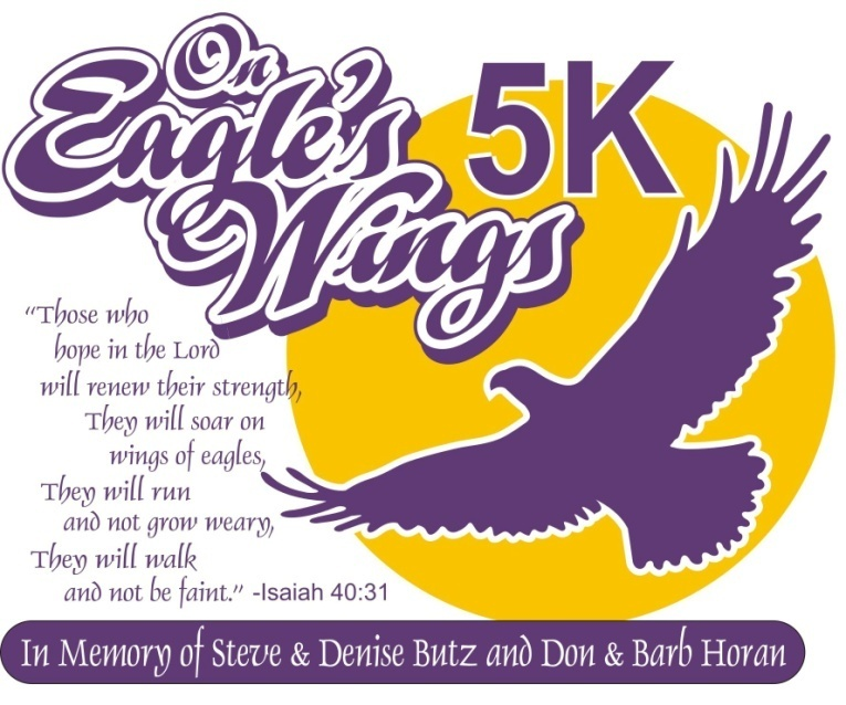 2014 on eagles wings 5k logo