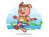 2019 running hog logo