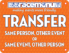 Racemenu transfer bib