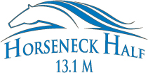 Horseneck half logo blue gray
