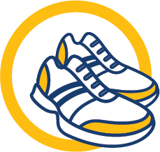 Step up for Kids Fall Fitness Challenge - Virtual Fitness Event Logo - Shoes Only No Text