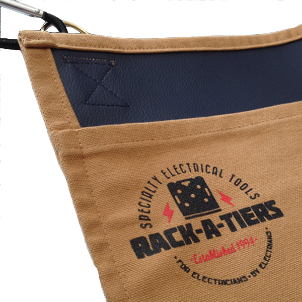 Snap Sack – Canvas/Leather Tool Apron – Rack-A-Tiers Mfg