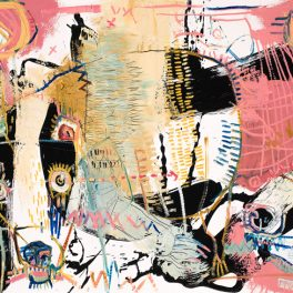 badger mcclendon modern art river arts district animals abstract