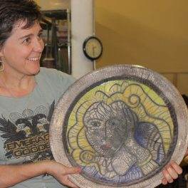 melanie robertson, the village potters, asheville nc, pottery, ceramics, raku, ceramic jewelry, pottery classes