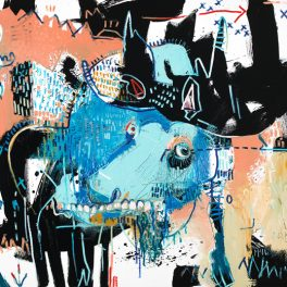 moose mcclendon modern art river arts district animals abstract