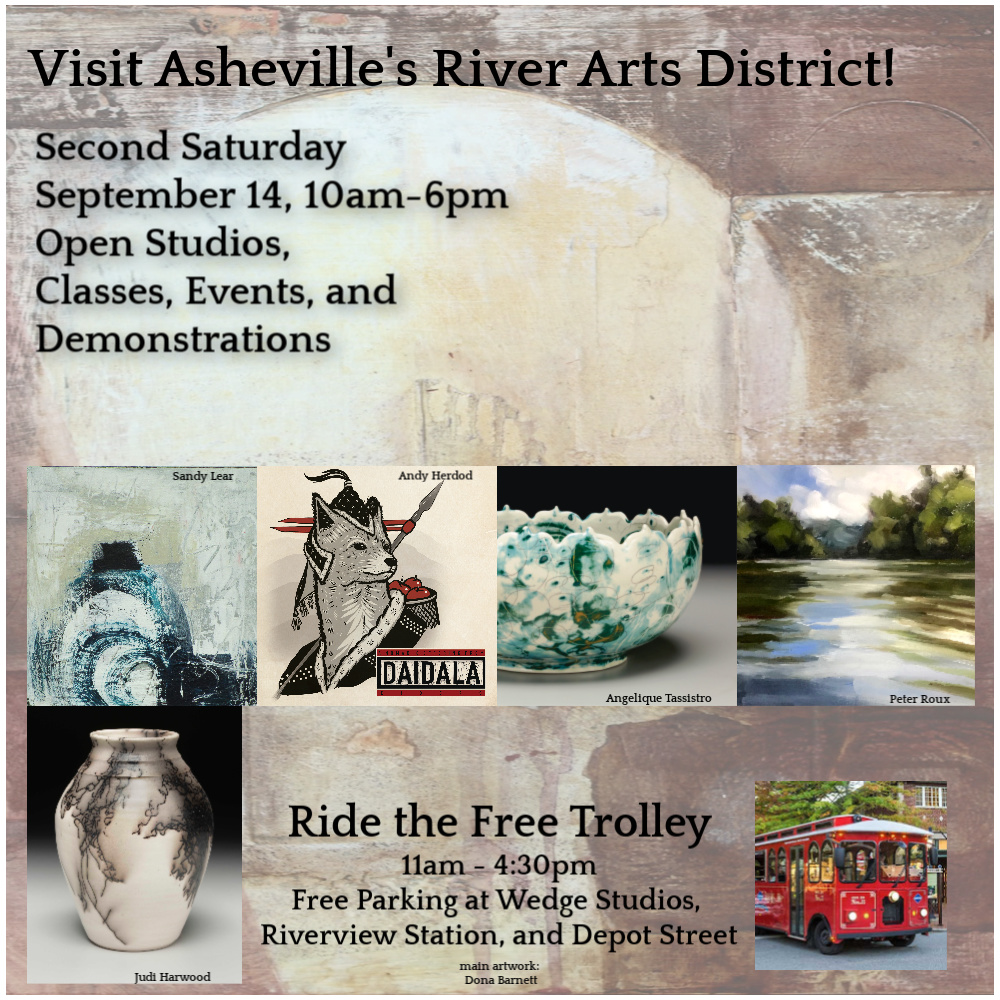 Asheville River Arts District Artists September Second Saturday Open Studios Event