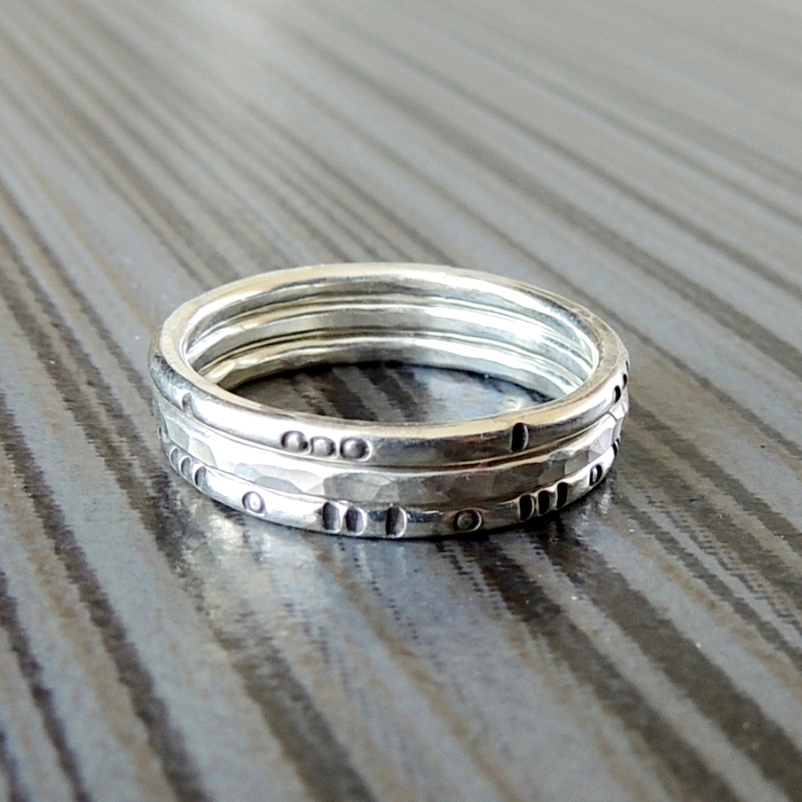 1c6c1760b9a9c Silver Stacking Rings   River Arts District Artists