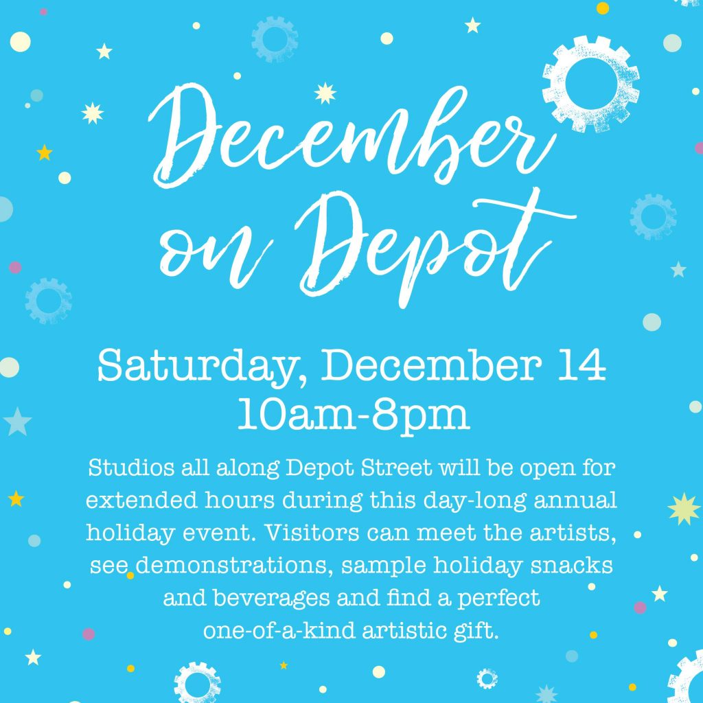 December on Depot in the River Arts District flyer