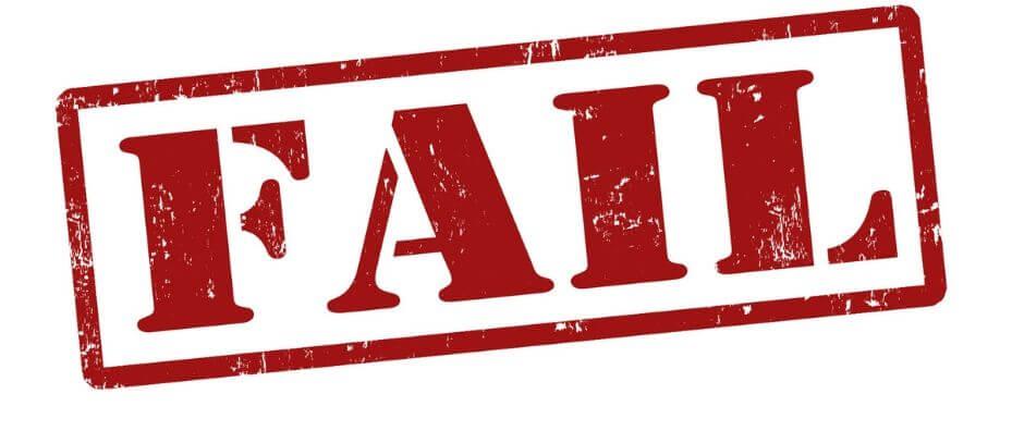 The word FAIL