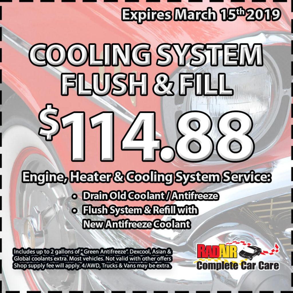 Cooling System Flush & Fill
