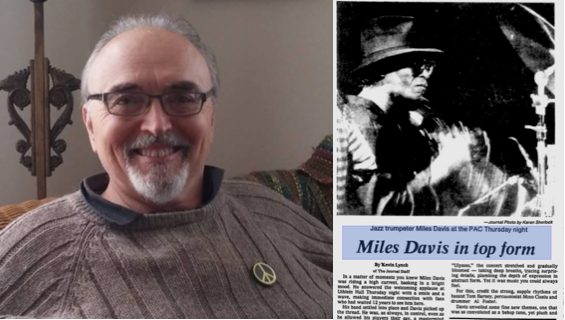 Kevin Lynch and Journal article on Miles Davis Milwaukee concert