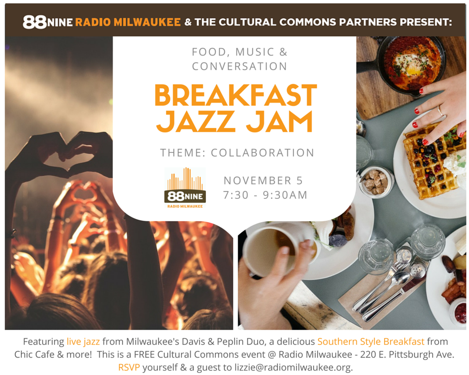 Breakfast Jazz Jam Invitation 5 November 2015 @ 7 30am
