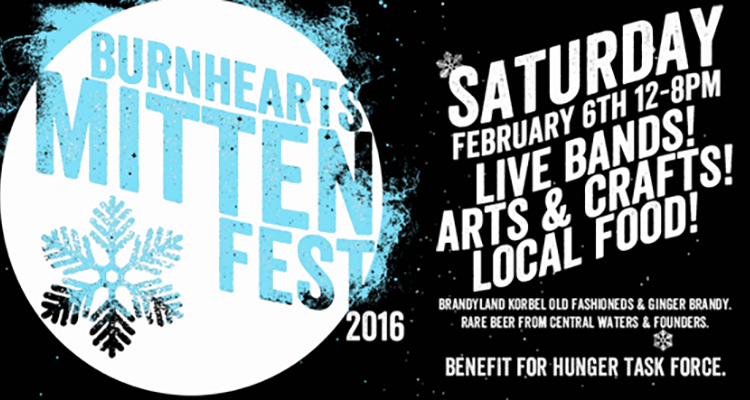 burnhearts Mitten Fest poster