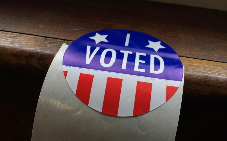 "Spring Primary ""I Voted"" sticker"