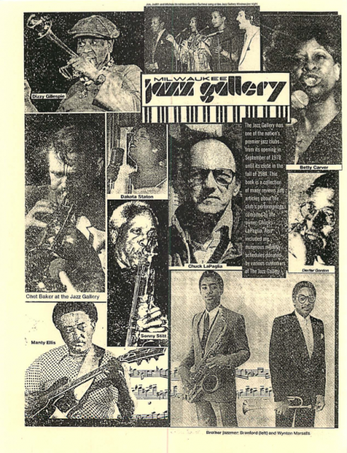 The Milwaukee Jazz Gallery