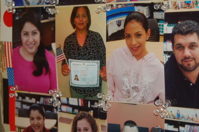 Photos of Journey House students who became citizens.