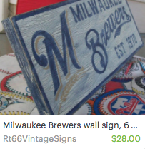 Milwaukee Brewers Wall Sign