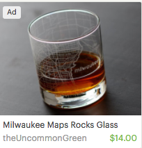 Milwaukee Maps Rock Glass