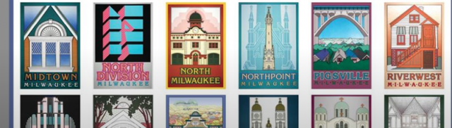 Swing by City Hall next Thursday and pick up a classic Milwaukee neighborhood posters.