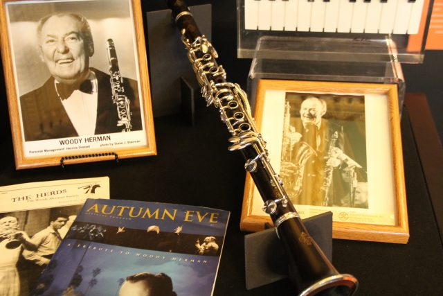 Clarinet of big-band/jazz icon Woody Herman can be found in the exhibit, along with many other impressive collectables both own and borrowed by the historical society.