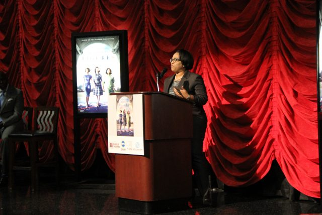 MPS Superintendent, Dr. Darriene Driver, speaks at Marcus Majestic Theater in Brookfield on Wednesday, Feb. 1.